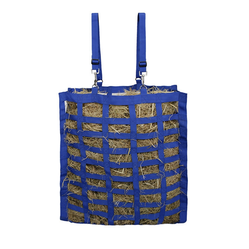 Slow Feed Set Of Hay Bag And Hay Net For Horses, Adjustable Travel Feeder For Trailer And Stall Simulates Grazing
