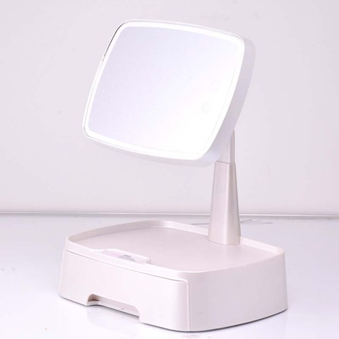 armazenamento desktop espelho maquiagem multi funcao