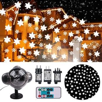 Schneit Lampe LED Projektor Licht Schnee Fallen Licht Wasserdichte Outdoor Indoor Schneeflocke Weihnachten Dekorationen Licht Fernbedienung