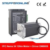 1 Axis Nema 34 Stepper CNC Kit 12Nm 86 Motor 5.2A Nema34 Step Motor & Digital Stepper Driver DM860S