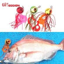 Inchiku deep sea métal rapide coulant gabarit grande tête avec jupe en caoutchouc 60g80g100geau salée aide crochet de pêche leurre Tai Kabura curseur