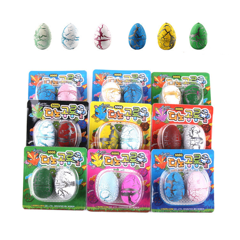 2pcs Magic Hatched Dinosaur Eggs Cute Water Growing Dinosaurs Novelty Educational Gag Toy For Kids Gifts
