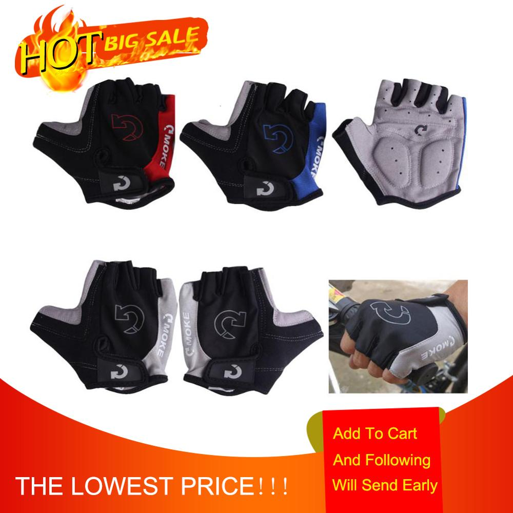 Anti-Slip Gloves Outdoor Sports Fitness Motorcycle Bike Cycle Gloves CAMO Black