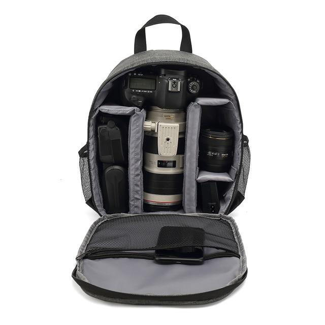 Mochila multifuncional para câmera dslr, a prova d água, outdoor, bolsa para câmeras, tripé