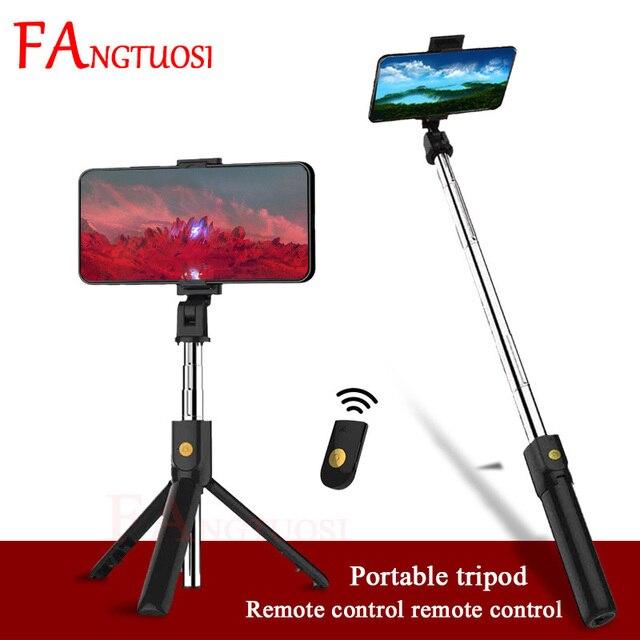 FANGTUOSI 3 ב 1 אלחוטי Bluetooth Selfie מקל להארכה כף יד חדרגל מתקפל מיני חצובה עם תריס מרחוק עבור iPhone