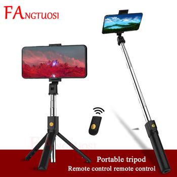 FANGTUOSI 3 w 1 bezprzewodowy Bluetooth Selfie Stick wysuwany ręczny Monopod składany Mini statyw z pilotem migawki dla iPhone tanie i dobre opinie Z tworzywa sztucznego CN (pochodzenie) Smartfony 150g 690mm