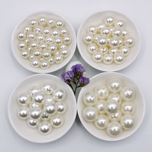 Image 4 - 3 20 mm Acrylic Round White Ivory Imitation Pearl Loose Beads Jewelry DIY Crafts Grament Clothes Headwear Shoes Bags Hats Decor