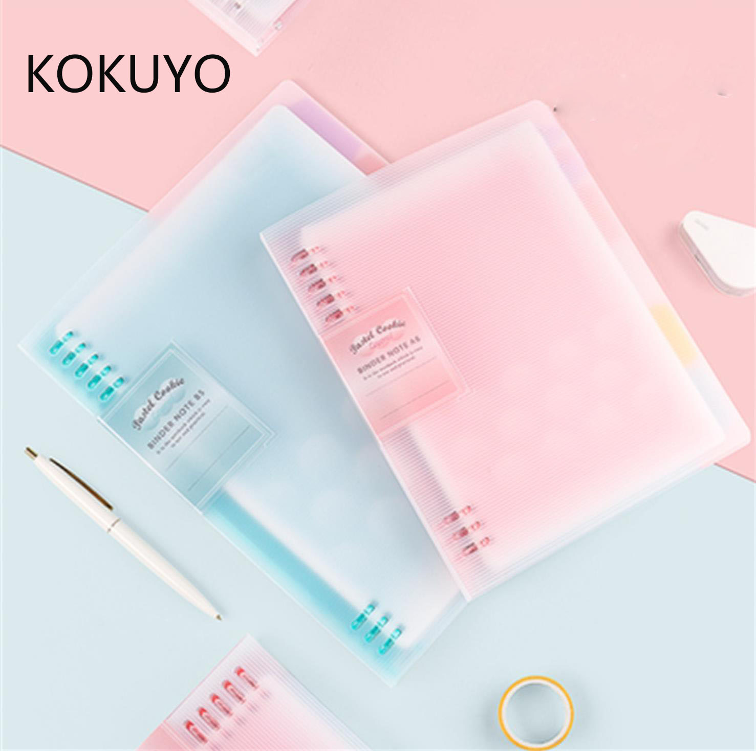TUNACOCO KOKUYO Macaron Note Book Loose Leaf Inner A5 B5 A4 Ring Binder Notebook Diary Binder Office School Supplies Bz1710136