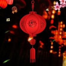 Китайский год фонари декоративные нетканые Лампы 3D благословение праздничные фонари подвесные украшения вечерние светодиодный свет