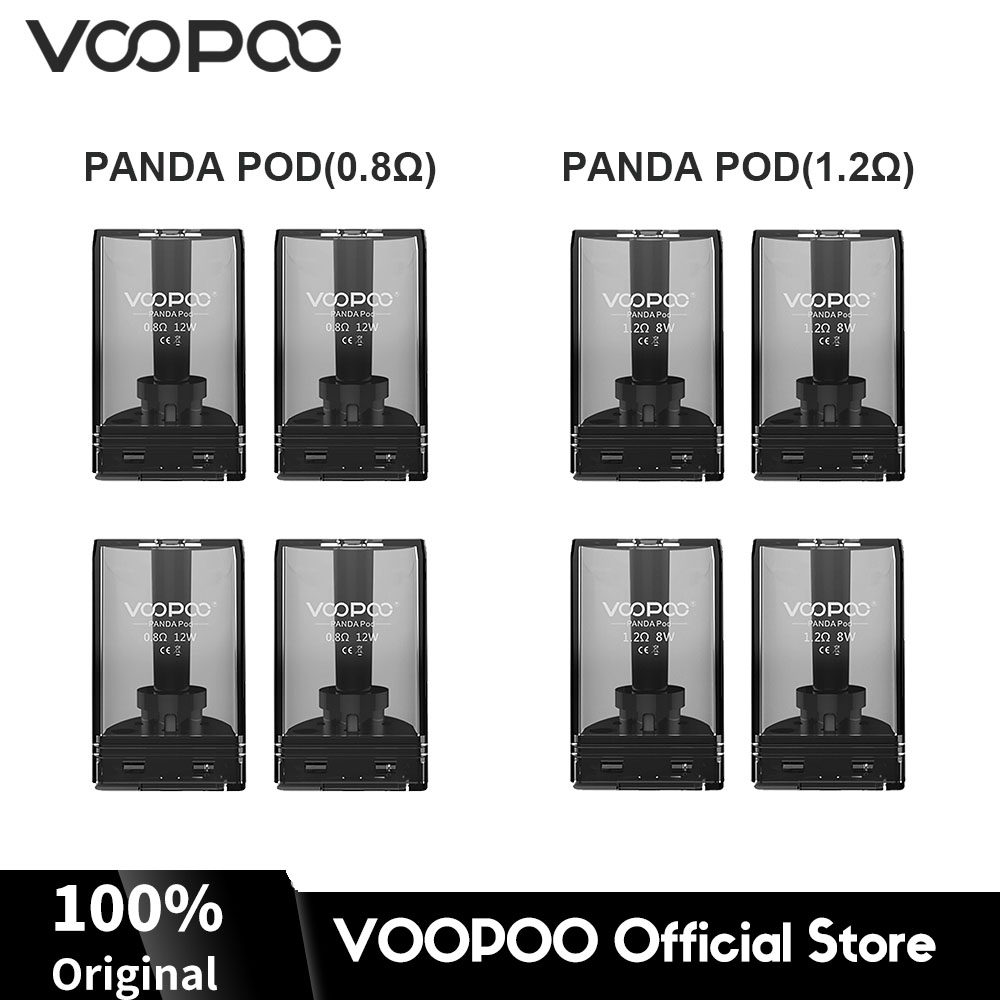 Original VOOPOO Panda Pod Cartridge 5ml Capacity 0 8ohm 1 2ohm Coil Resistance for VOOPOO Panda AIO Kit E cig Vape Parts in Electronic Cigarette Atomizers from Consumer Electronics