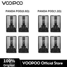Oryginalny VOOPOO PANDA Pod wkład 5ml pojemność PTCG zbiornik na VOOPOO Panda Pod wymienny wkład 0 8ohm 1 2ohm e-papieros tanie tanio VOOPOO Panda Pod Cartridge Z tworzywa sztucznego Wymienne VOOPOO Panda AIO System 35 5*21 5*18 3mm 0 8ohm 1 2ohm 12W(0 8ohm) 8W(1 2ohm)