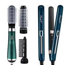 Brosse sèche-cheveux professionnelle, outil de coiffure multifonctions, fer plat, lisseur, bigoudi, peigne à Air chaud, puissant, à faible bruit