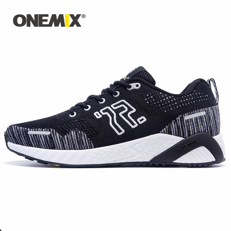 ONEMIX Retro Running Shoes For Men Knitted Vamp Summer Classical OutdoorMan  Jogging Sport Shoes Walking Sneakers Size Eur 35-46
