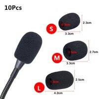 Tampa de substituição de microfone  capa de microfone de espuma para cobrir o telefone  proteção contra o vento  esponja de fone de ouvido s/m com 10 peças l