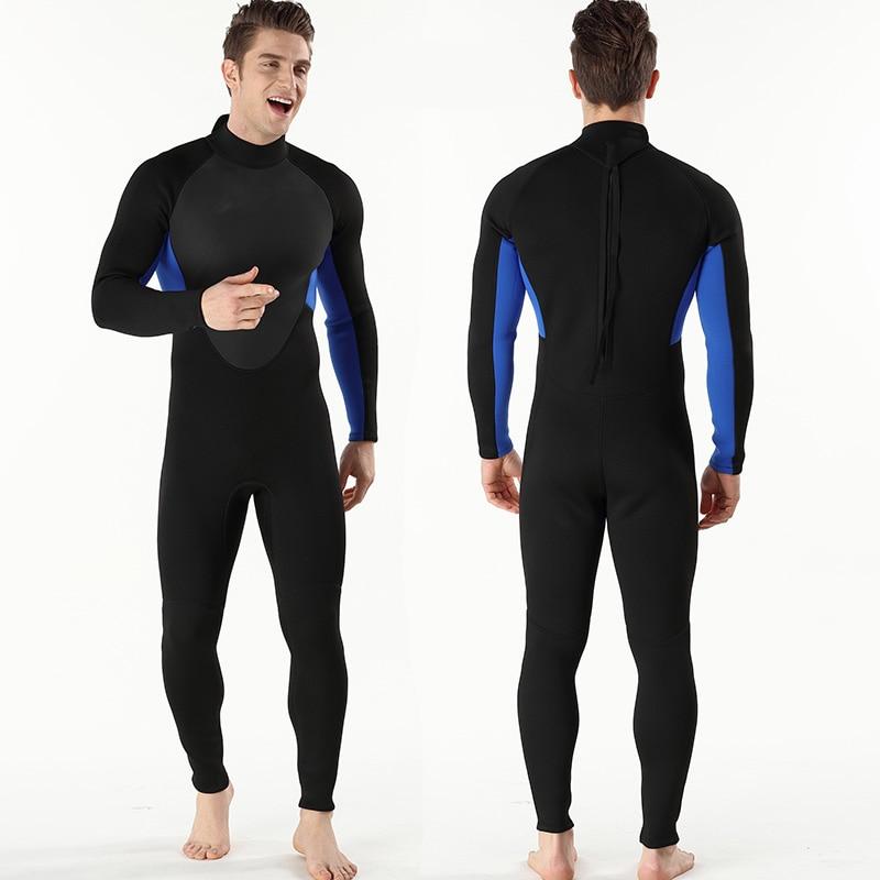 Roupa de mergulho masculina, body de 3mm,