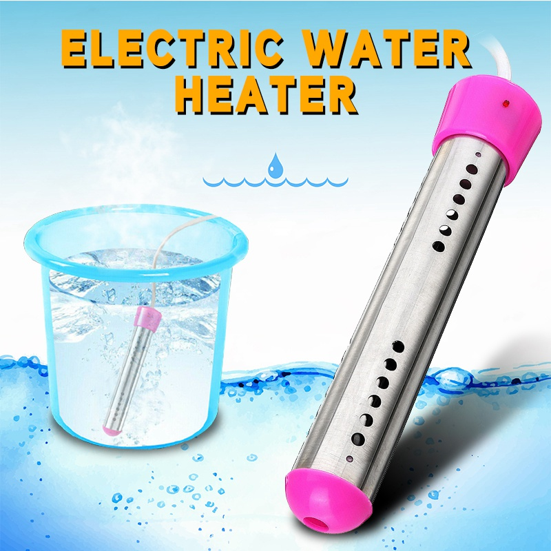 220V 2500W Suspension Immersion Water Heater Element Floating Electric Heater Boiler Water Heating Portable Bathroom Swim Pool