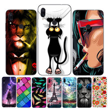 For Xiaomi Redmi Note 7 Case Silicone Soft Bumper Print Cover Phone on Xiomi 7S Note7 Pro Cases 6.3