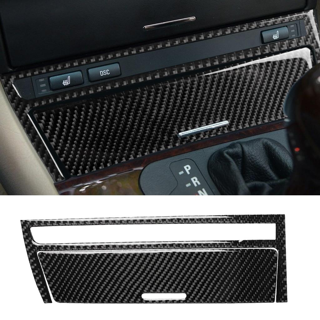 Carbon Fiber Look Interior Car Central Cover Trim For BMW 3 Series E46 1998~2005