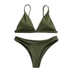 Green White Bikinis Swimwear Women 2020 Tankini Swimsuits Set biquíni Купальник Женский Maillot De Bain Push Up Bikinis