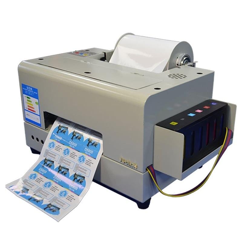 Kleinen Klebe Aufkleber Drucker Maschine A4 Desktop Label Drucker 6 Farben Inkjet Aufkleber Druck Maschine