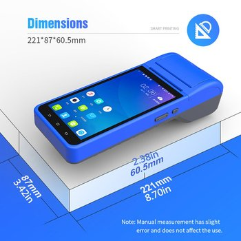 Terminal Handheld Smart Pos Wireless 58Mm Bluetooththermal Printer 1