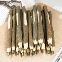 100 Creative Handmade Wooden Plant Branches Ballpoint Pens,Stationery Materials School Supply