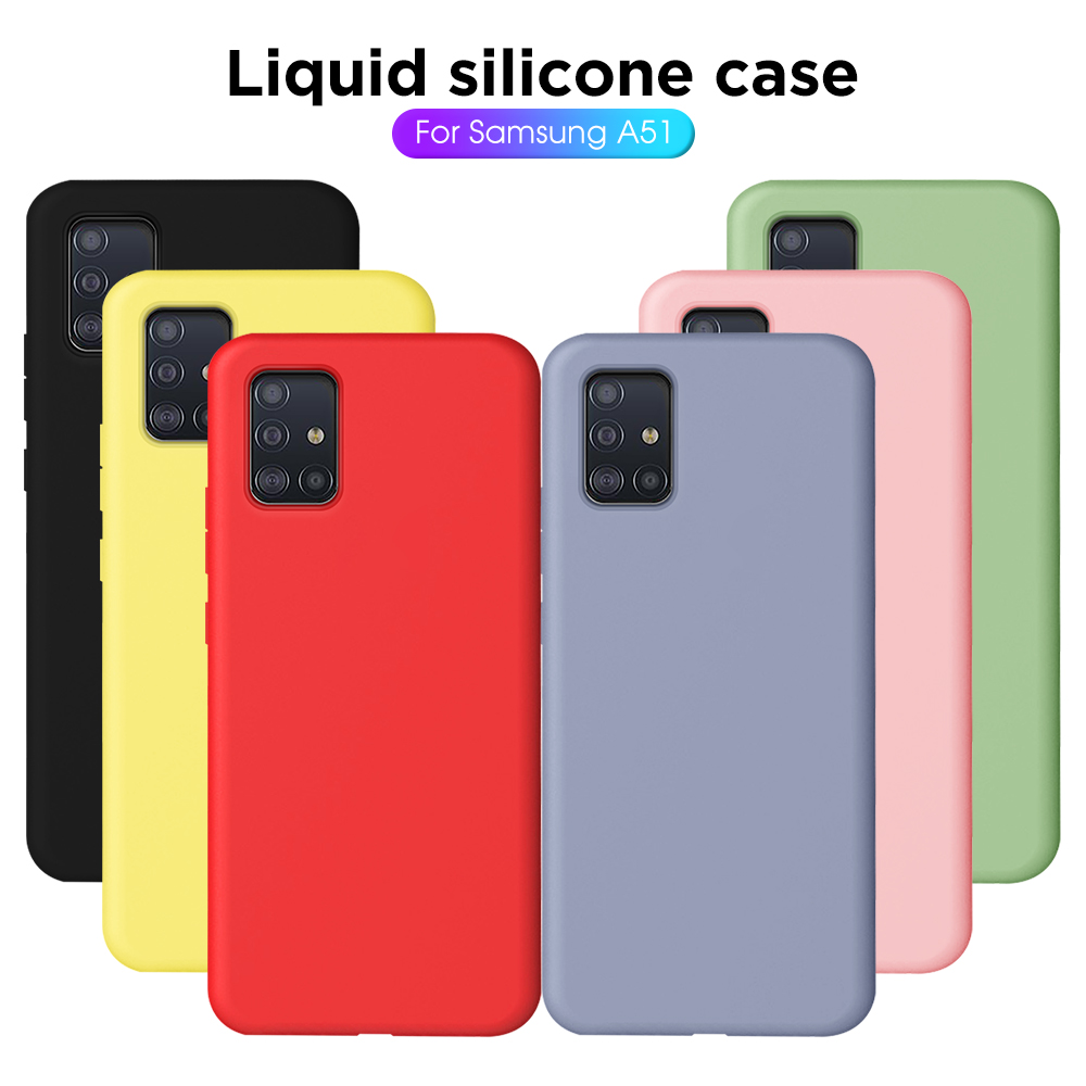 For Samsung Galaxy A51 Case Cover Ultra-thin Liquid TPU Silicone Phone Case For Samsung Galaxy A71 SM A515F A717F A 51 71 Cover(China)