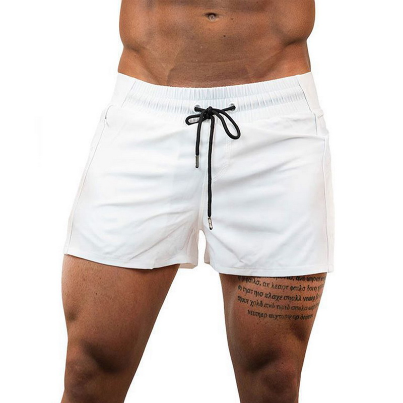 2020 Men Fitness Bodybuilding Shorts Man Casual Gyms Workout Male Breathable Mesh Quick Dry Sportswear Beach Shorts