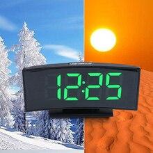 Многофункциональные 3 в 1 цифровые часы, термометр, календарь, светодиодный, большой экран, электронные настольные часы, немой зеркальный будильник