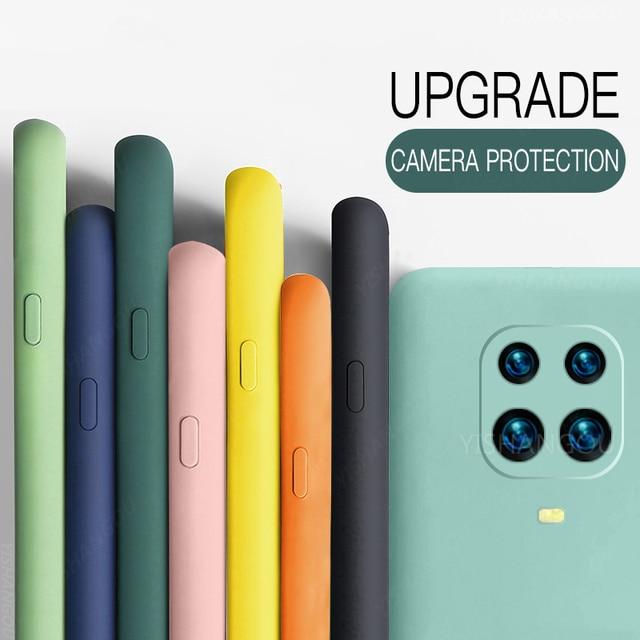 Liquid Silicone Case Cover For Xiaomi POCO X3 Pro M3 F3 11 10T Redmi Note 10 Pro 8 9A 9T K40 Soft Case For Redmi Note 9 Pro Case 1