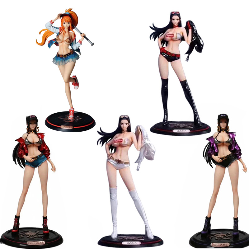 Japan Anime One Piece Boa Hancock Nico Robin Nami GK PVC Action Figure Toy Sexy Girl Figures Adult Collection Model Doll Gift