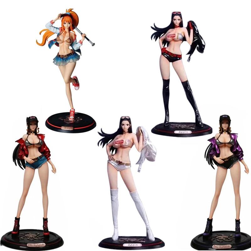 Japan Anime One Piece Boa Hancock Nico Robin Nami GK PVC Action Figure Toy Sexy Girl Figures Adult Collection Model Doll Gift