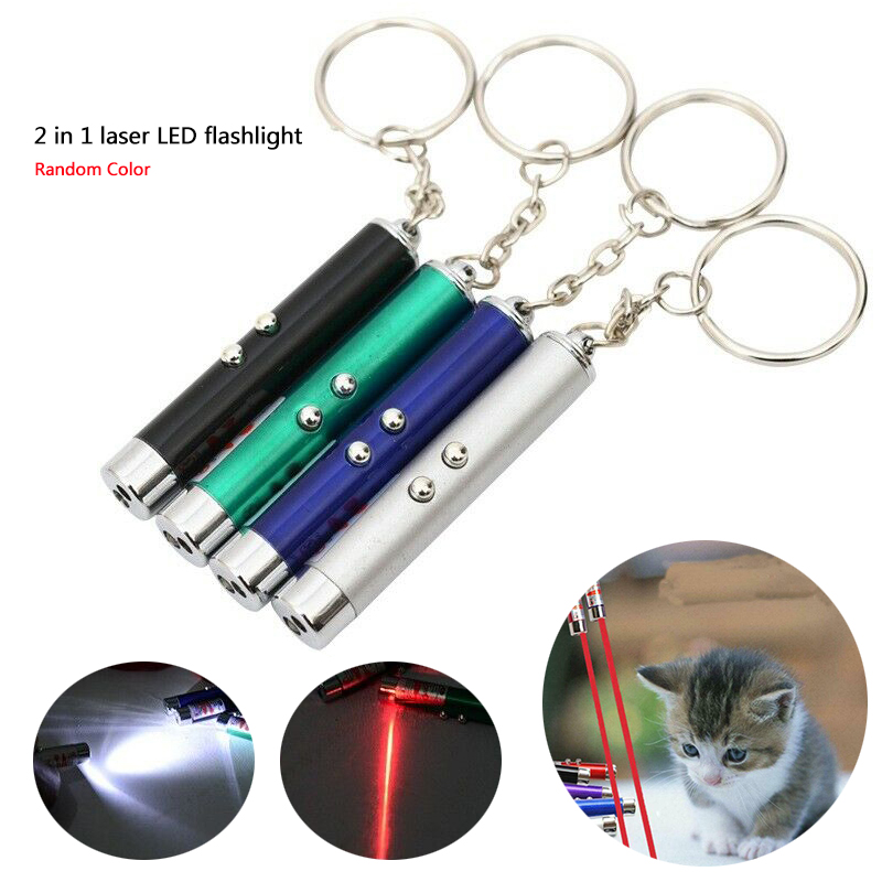 2 In 1 Laser LED Flashlight Laser Pen Single Point Beam Indicator Pointer Pen Laser Flashlight For Teaching Pet Entertainment
