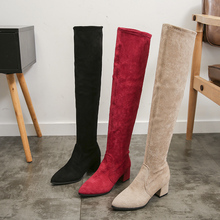 Thigh High Boots Women 2020 Winter Fashion Boots New Over Knee Boots Women Shoes Sexy High Heels Boots Red Warm Fur Black Boots