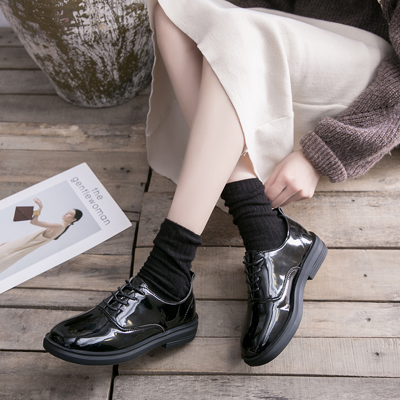 Image 3 - Oxfords Flats Woman Loafers Shoes Oxford Femme New Patent Matt Leather Shoes Woman Casual Womens Flats Female Shoe DropshippingWomens Flats   -