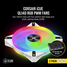 Corsair FAN QL Series QL140 RGB, 140mm RGB LED Fan Black/White Color New and Original