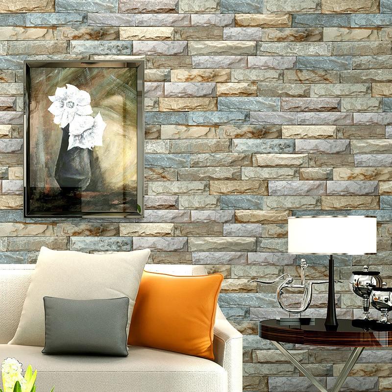 3D Marble Wallpaper Art Stone Minimalist Modern TV Backdrop Stereo Brick Pattern Wallpaper