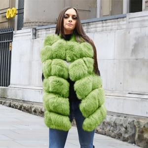 Image 3 - FURSARCAR 70cm 긴 진짜 여우 모피 조끼 여성을위한 정품 가죽 코트 겨울 여성 여우 모피 자켓 럭셔리 겉옷 사용자 정의