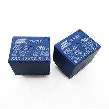 цена на Free Shipping 10PCS/lot 12V DC SONGLE Power Relay SRD-12VDC-SL-C PCB Type
