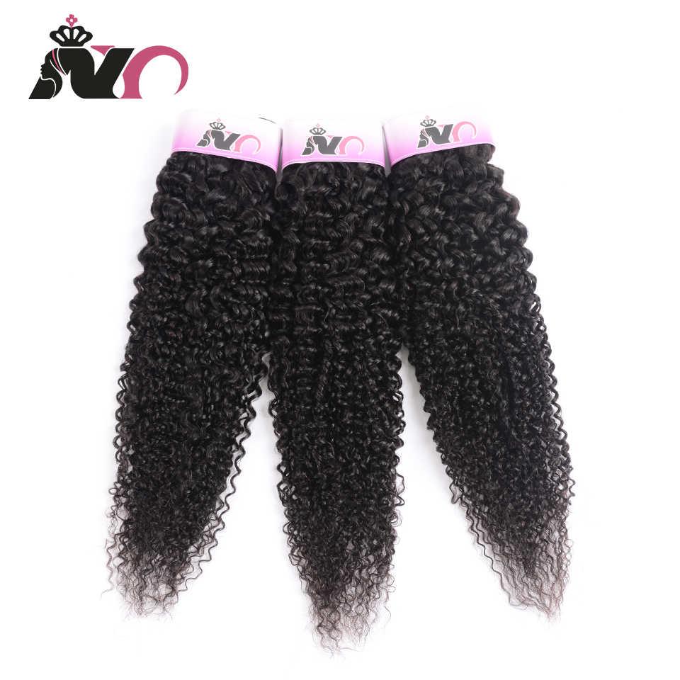 NY włosy 3 sztuka perwersyjne brazylijskie włosy kręcone wiązki Natural Color 100% ludzkie włosy splot wiązki 8-30 cal włosy inne niż Remy rozszerzenie