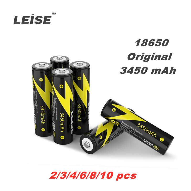 Leise 18650 3450mah Lithium Rechargeable 3.7V Li-ion Battery Leise Original 18650 Battery For Power Bank Flashlight Headlamp