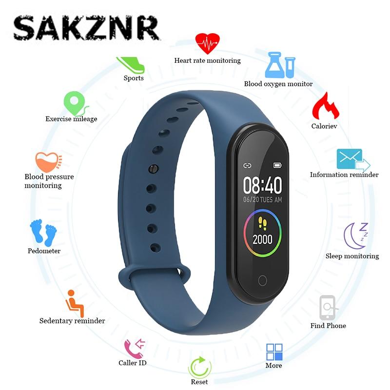 Smart Band M4 Fitness Trcker Pedometer Sport Bracelet Heart Rate Blood Pressure Bluetooth Waterproof Smartband Stylish Wirstband