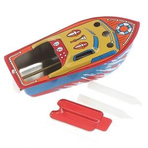 Bote flotante de juguete para piscina de agua, juguete para niños, regalo de cumpleaños, vela de hierro clásica, barco de vapor