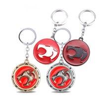 Anime dos desenhos animados thundercats chaveiro de metal brinquedo porta-chaves do carro acessórios lembranças jóias presente para homens