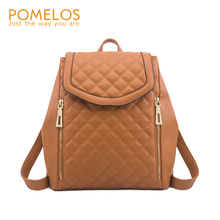 POMELOS Women Backpack 2019 Autumn New in Student College Bag PU Leather Material Luxury Bagpack Small Travel