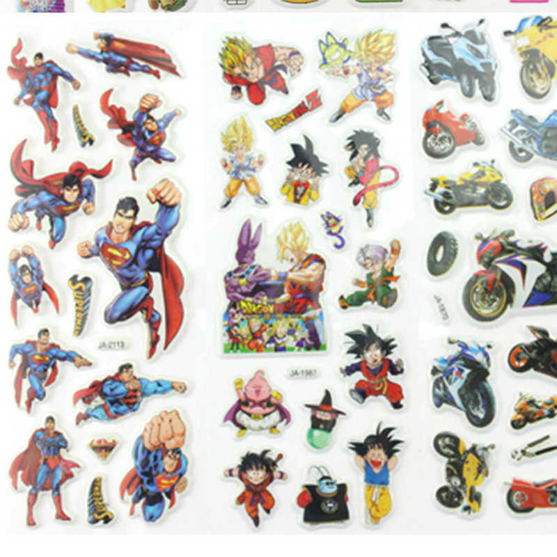 Оптовая продажа 100 шт./компл. смешанного оборудования детские наклейки Детские объемные наклейки мультфильм липкие Стикеры, наклейки бумажные игрушки