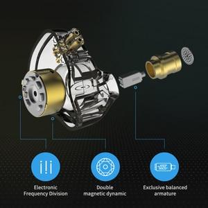 Image 3 - KZ ZSN PRO 1BA+1DD Hybrid technology HIFI Metal In Ear Earphones Bass Earbud Sport Noise Cancelling Headset ZSX ZSN PRO X ZSTX