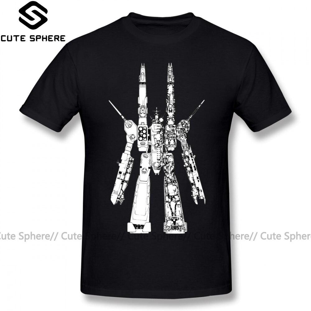 Robotech T Shirt SDF Macross T-Shirt Short-Sleeve Cute Tee Shirt Printed Summer 100 Percent Cotton Men Plus Size Tshirt