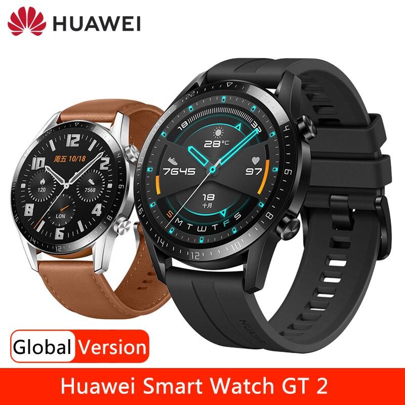 Умные часы HUAWEI GT 2 GT2e уровень кислорода в крови, умные часы 14 дней батарея, GPS, Bluetooth (голубой зуб), телефонный звонок сердечного ритма трекер 5ATM...