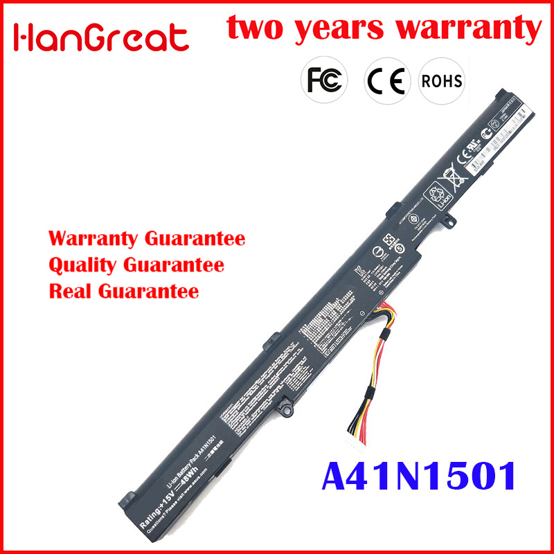 HanGreat 0B110-00360000 A41N1501 New Laptop Battery For ASUS G752VW GL752JW <font><b>GL752VW</b></font> Serie N552V N752 VivoBook Pro N552VW image